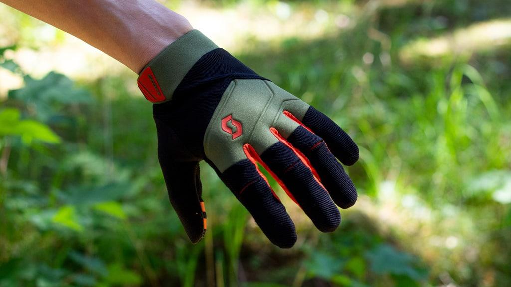 toppen af handskerne
